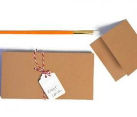 Kraft Card Paper 3 by 6 inch. Ideal for making mini cards. Pack of 25.