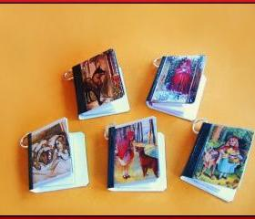 Mini Books on Jump Rings Little Red Riding Hood all 5