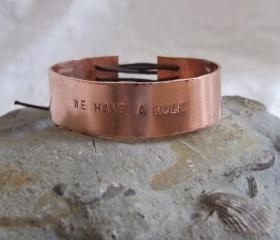 Copper Avengers bracelet: A classic bracelet with the words 'WE HAVE A HULK' taken from the trailer for the Avengers Assemble