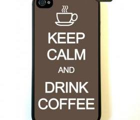 Iphone 4 Case - Keep Calm And Drink Coffee iphone 4 Case