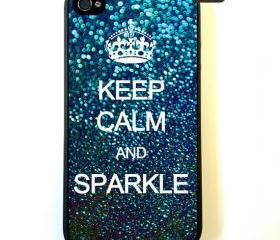 Keep Calm And Sparkle - iPhone 4 Case, iPhone 4s Case, iPhone 4 Hard Case, iPhone Case