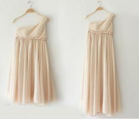 3 Colors Greek Goddess Elegant Dress Champagne Short Gown/ Bridesmaid Dress