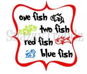One Fish Two Fish Dr.Seuss Vinyl Wall Decal