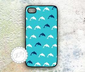 iPhone Case Dolphins Nautical Cover for iPhone4 4s custom colour New