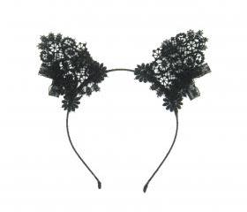 Lace cat ears headband.