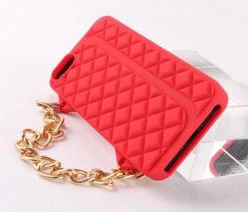 Fashion Red Lady Hand Bag Soft Case For Iphone 5