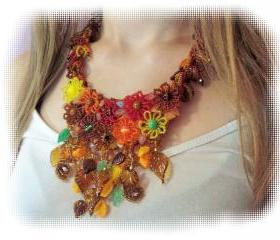 Endless Autumn Necklace, Beading Tutorial in PDF