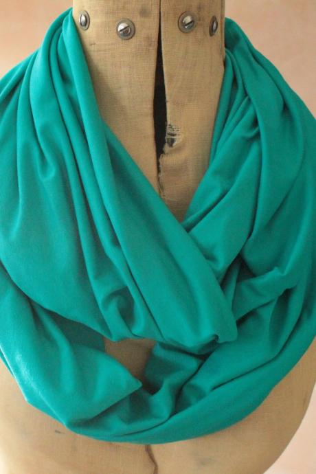 Infinity scarf - Snood, Eternity scarf, Circle scarf, Jersey scarf, Tube scarf, Loop scarf, Snood, T-Shirt scarf - Turquoise