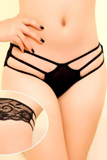 Female lace pattern temptations carry buttock non-trace underwear briefs fashion