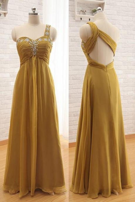 Vestidos 2016 Evening Dresses Sweetheart One Shoulder Customize Plus Size Long Prom Dresses Party Dresses With Beaded Crystals