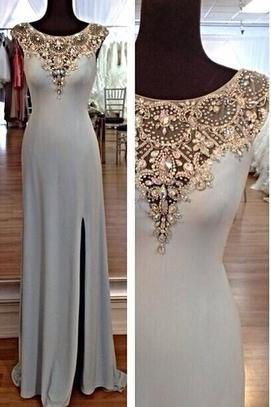 Cap Sleeve prom dress ,high quality promdress,beautiful beading prom dress,Hollow Back Prom Dress, Elegant Women dress,Party dress L130