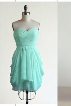 Lovely Short Chiffon Homecoming Dresses Sweetheart Neck Pleat Mini Party Dresses 2016